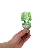 Going Green Lightbulb Royalty Free Stock Photos