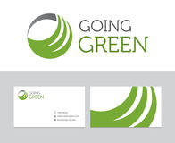 Going green logo. For many purposes. All vector and ready for print and web Stock Photos