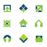 Going green for natural business success arrow up logo icon Royalty Free Stock Photography