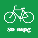 Going Green, Ride a Bike. Sign showing that biking costs nothing vector illustration