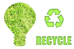 Going Green and Saving Our Planet stock illustration