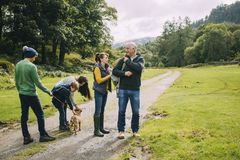 Going for a Hike with Grandparents Royalty Free Stock Image