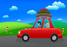 Going on holiday (road trip) Royalty Free Stock Image