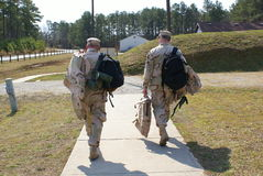Going home. Two soldier going home after mission acomplish Stock Photo