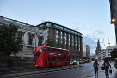 Going home in the evening London Uk Royalty Free Stock Photography