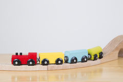 Going on a Journey. Brightly coloured train going on a journey Royalty Free Stock Photos