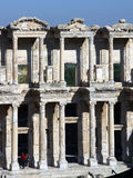 Going into the Library of Celsus Stock Photography