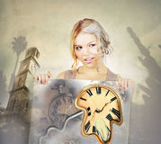 Going old concept woman geting older Royalty Free Stock Image