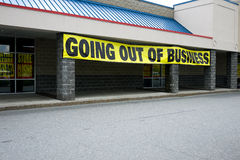 Going Out of Business. Generic retail store going out of business royalty free stock image