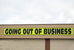 Going out of business sign. Stock Photography