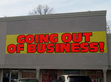 Going Out of Business stock images
