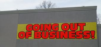 Going Out of Business Sign Royalty Free Stock Photos