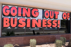 Going out of business signage Stock Image