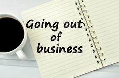 Going out of business words Royalty Free Stock Image