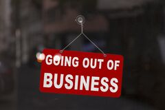 Free Going Out Of Business - Closed Sign Royalty Free Stock Images - 181548589
