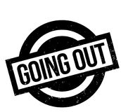 Going Out rubber stamp stock illustration