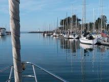 Going out to sail at Santa Cruz Harbor Stock Photography