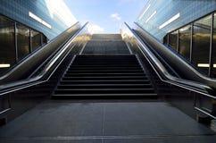 Train station escalators Stock Photo