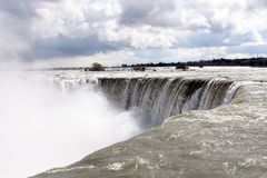 Going Over. The Canadian Horseshoe falls from Niagara falls Ontario Stock Images
