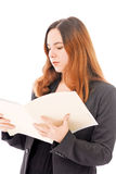 Going Over Paperwork Stock Image
