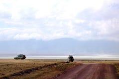 Going on safari in the NgoroNgoro Conservation Area near Arusha, Tanzania Stock Photography