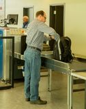 Going through security Stock Photos