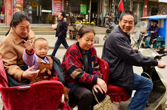 Going Shopping in Autorickshaw, Kaifeng Royalty Free Stock Photo