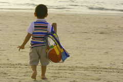 Going to the beach Stock Image