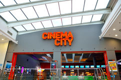 Going to Cinema City Royalty Free Stock Images