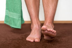Going to clean feet Royalty Free Stock Photos
