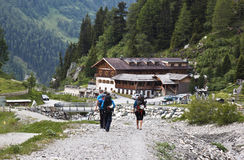 Going to climb in Koednitz Valley, Austria Stock Photo