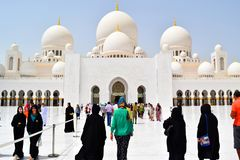 Going To Diferent Religions Sheikh Zayed Grand Mosque Royalty Free Stock Photography