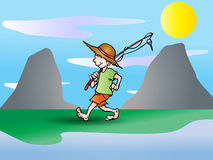 Going to fishing Stock Photography