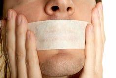 Going to keep silence Stock Photos