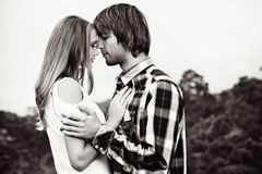 Going to kiss royalty free stock images