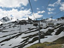 Going to the Kitzsteinhorn Glacier Stock Photography