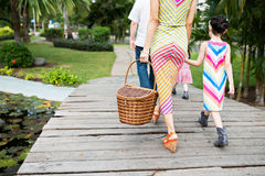 Going to picnic Stock Images