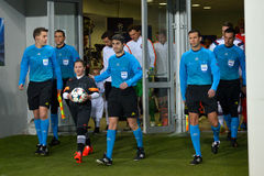 Going to the pitch Stock Images