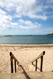 Going to Porthcressa beach. Stock Photography