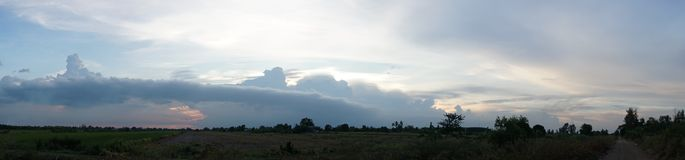 It is going to rain in panorama Royalty Free Stock Photo