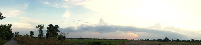 It is going to rain in panorama Royalty Free Stock Image