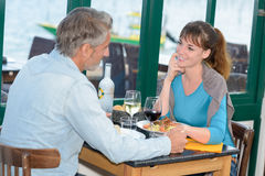 Going to restaurant with lover. Going to the restaurant with a lover Royalty Free Stock Photo