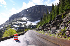 Going to sun road Stock Images
