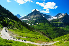 Going-to-the-Sun Road,  Glacier National Park Stock Image