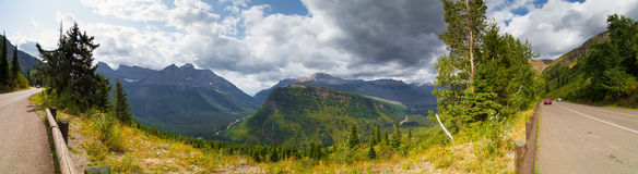 Going To The Sun Road. Glacier National Park Stock Photography