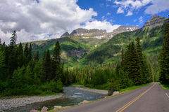 Going-to-the-Sun Road in Glacier National Park, Montana USA Royalty Free Stock Photo
