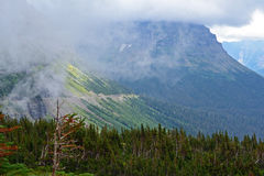 Going to the Sun Road in Glacier National Park. Traveling the roads of Glacier National Park Royalty Free Stock Images