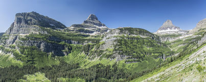 Going-to-the-Sun Road Panoramic. Panoramic view from Going-to-the-Sun Road in Glacier National Park, Montana, United States Stock Photography