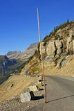 Going-to-the-Sun-Road with Snow Poles in Place Royalty Free Stock Photography