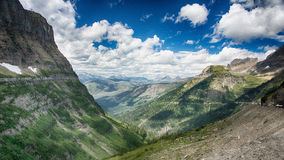Going to the Sun Road. View from the going to the sun road at Glacier National Park Stock Images